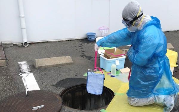 島津製作所は5月から施設単位での下水PCRサービスを始めている