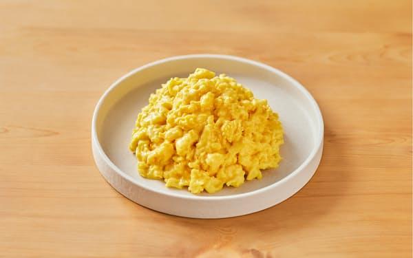 大豆を原料にスクランブルエッグのようなペースト状に仕上げた