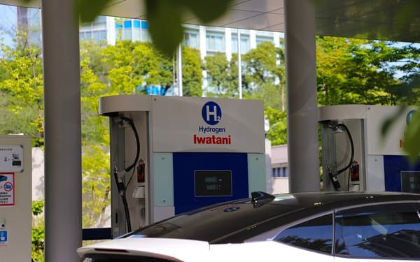 岩谷産業が運営する東京都内の水素ステーション(撮影:日経クロステック)