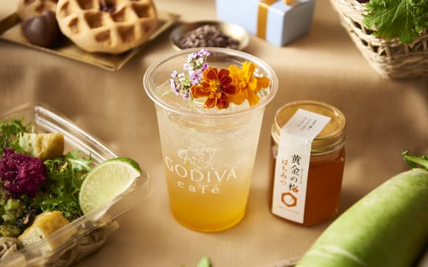 ゴディバカフェ東京では2月、福井県の産品とのコラボメニューが提供された