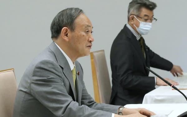 国と地方の協議の場であいさつする菅首相(2日、首相官邸)