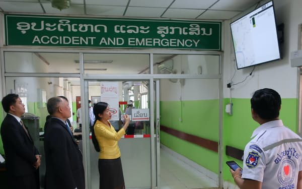救急車の位置情報を管理するほか、交通事故の情報を記録する