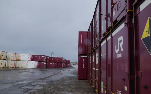 北海道は鉄道貨物依存度が高い(JR貨物のコンテナ)