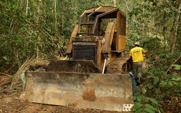 アマゾンの熱帯雨林の破壊が問題化している(ブラジル・ロンドニア州)=ロイター