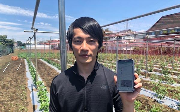 農作業管理アプリ「アグリハブ」を開発した伊藤彰一さん