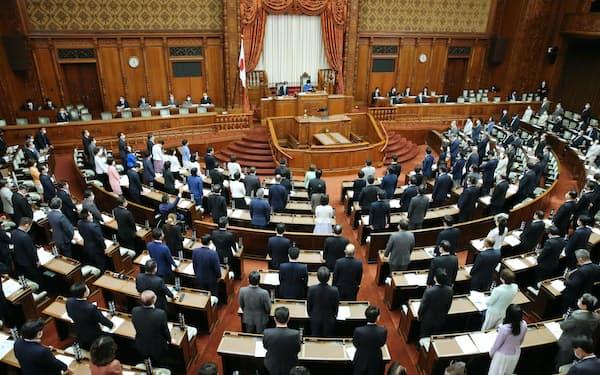 与党と立民などの賛成多数で改正国家公務員法が可決、成立した参院本会議(4日)