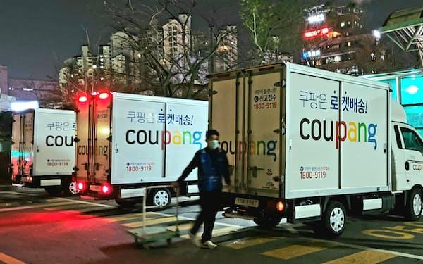 クーパンは韓国で4万人超を雇用し、物流センターや配送トラックを自前で整備している(ソウル市)
