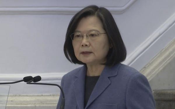 台湾の蔡英文総統は4日、32年を迎えた「天安門事件」についてコメントした=AP