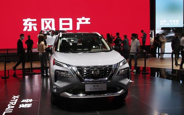 日産自動車の5月の中国新車販売は9カ月ぶりに前年実績を下回った(上海国際自動車ショー)