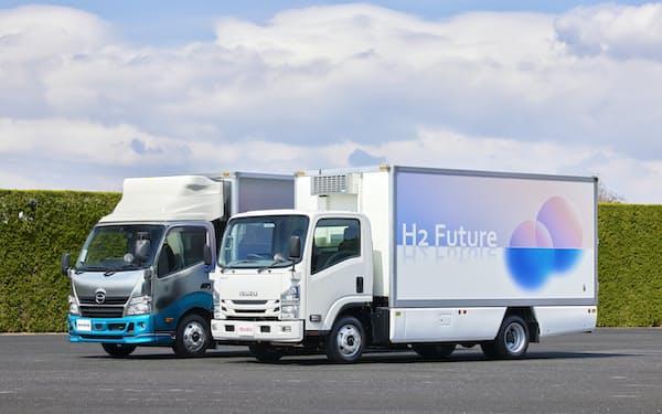 福島県で水素活用事業をめざす燃料電池搭載のトラック