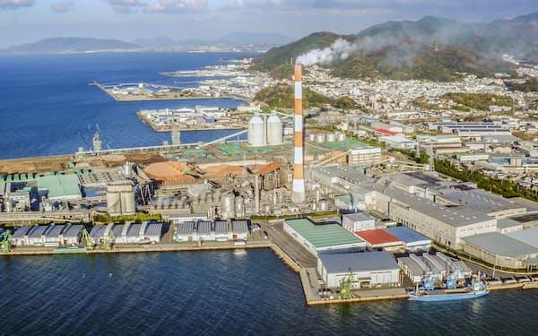 衛生紙事業で大型投資を計画する大江工場(愛媛県四国中央市)