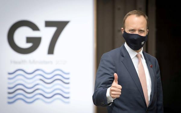 G7保健相会合の議長を務めた英国のハンコック保健相(写真は3日、英オックスフォードにて)=ロイター
