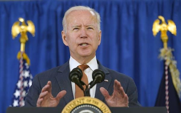 バイデン米大統領に対し、民主党リベラル派は核先制不使用の方針を採用するよう求めている=AP