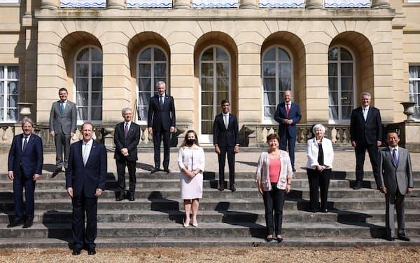 4~5日のG7財務相会合は、法人税の最低税率などで一致した(ロイター=共同)