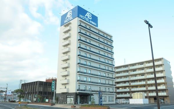 ABホテルは郊外ホテルに注力する。写真は宇部新川(山口県宇部市)のABホテル