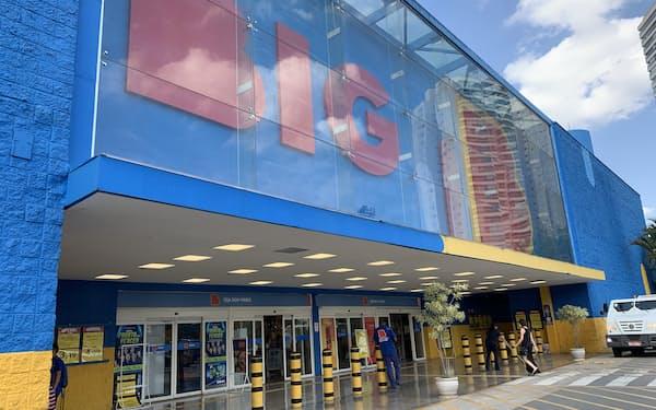 BIG(旧ウォルマート)の店舗外観(3月、サンパウロ)