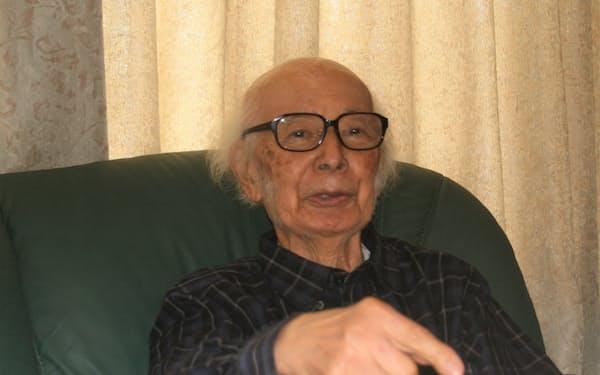 「ドストエフスキー、トルストイ、チェーホフと手を取り合うようにして創作してきた」と話す加賀乙彦