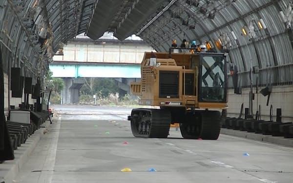 大成建設はGPSを用いない自動運転システムを開発した(茨城県つくば市)