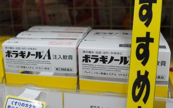 「ボラギノール」の海外展開は台湾などに限られている(大阪市内のドラッグストア)