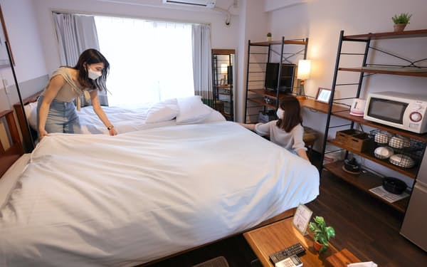 マツリテクノロジーズは部屋の整備なども手掛ける(東京都新宿区)