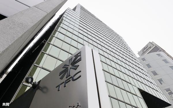 東北新社の本社ビル=3月、東京都港区
