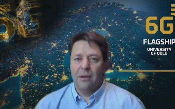 世界デジタルサミット2021でビデオ講演したオウル大学(フィンランド)のマティ・ラトヴァ・アホ6Gフラッグシップディレクター