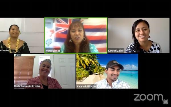 ハワイ語振興団体がコロナ禍で実施したオンライントーク番組=カナエオカナのユーチューブから