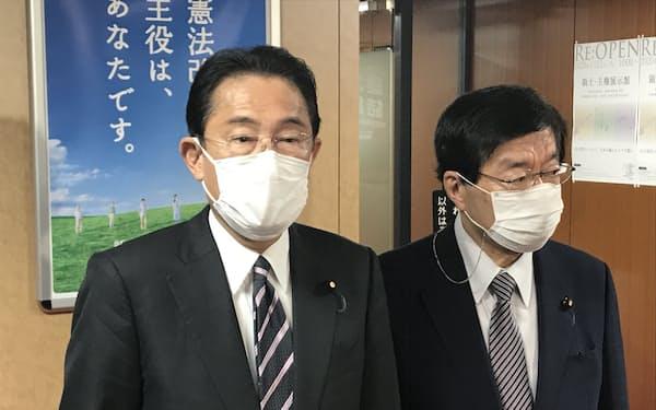 岸田氏は「無観客も選択の一つ」との認識を示した