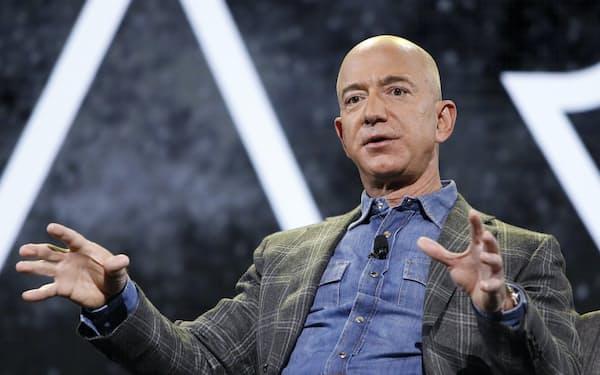 アマゾン創業者のベゾス氏=AP