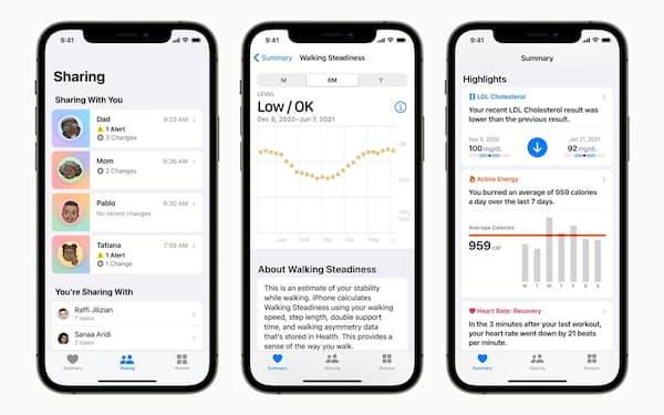 iOS 15へのアップデートで追加予定の主な機能(出所:アップル)