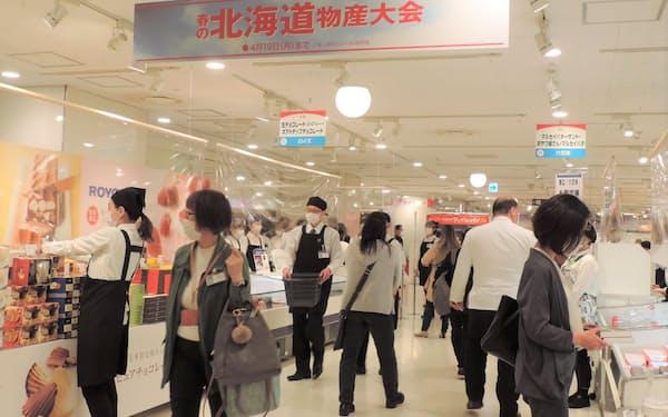 北海道物産展は百貨店のなかでも人気のイベントだ