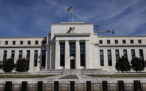 FILE PHOTO: The Federal Reserve Board building on Constitution Avenue is pictured in Washington, U.S., March 27, 2019. REUTERS/Brendan McDermid/File Photo