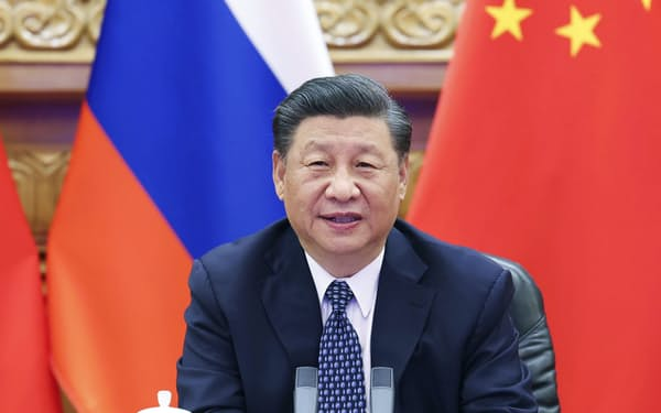 中国の習近平国家主席=北京(新華社=共同)