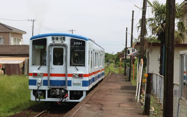 MaaSを活用し交流人口拡大を図る(関東鉄道竜ケ崎線の列車)