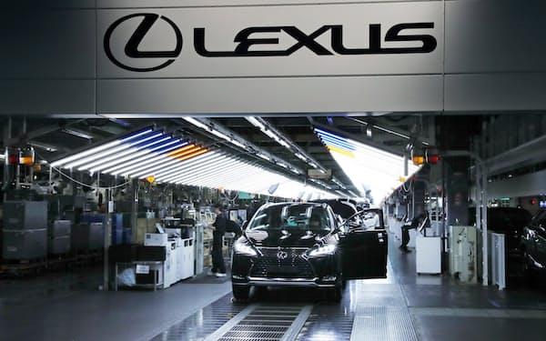 レクサスを製造するトヨタ自動車九州の宮田工場(福岡県宮若市)