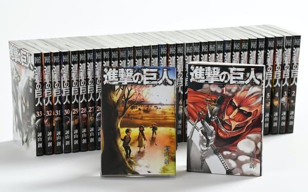 34巻で完結したコミック「進撃の巨人」