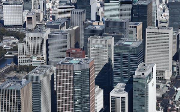 都心のオフィス需要が縮小している(東京・丸の内)