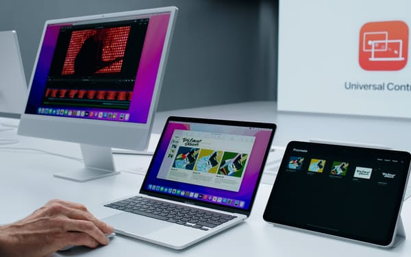 iMac、MacBook、iPadをまたいでデータを移動するデモ
