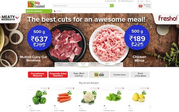 食料品ネット通販「ビッグバスケット」はスピード配達などで人気を集める最大手だ