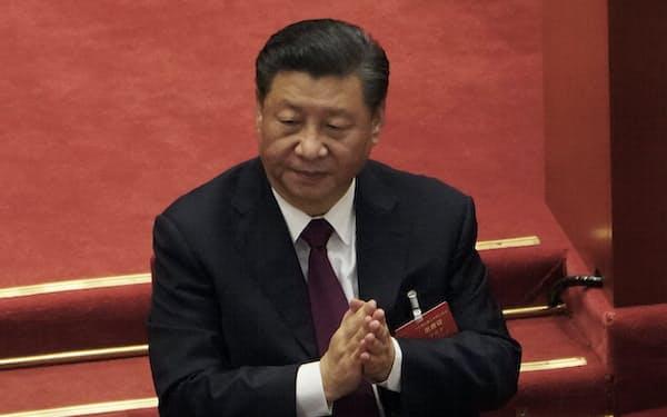 中国は米欧の対中制裁への強硬姿勢を強める=AP
