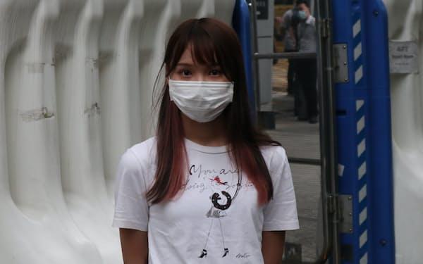 民主活動家の周庭氏(2020年9月)