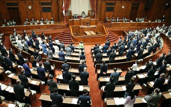 賛成多数で改正国民投票法が可決、成立した参院本会議(11日)