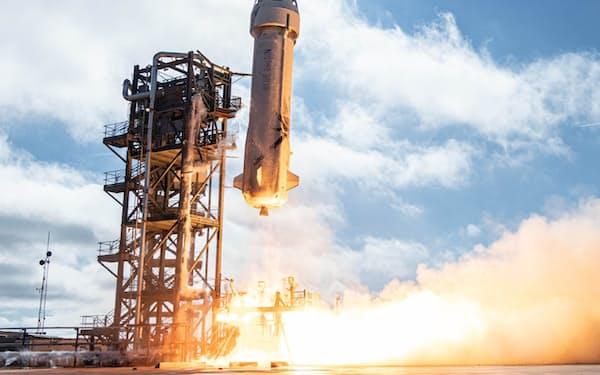 ブルーオリジンは7月20日に有人宇宙飛行を計画している=同社提供