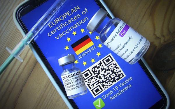 欧州連合(EU)では7月から「デジタルCOVID証明書」の発行が本格化する=AP
