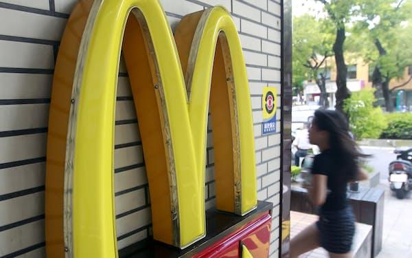 一部の顧客情報が漏洩した台湾のマクドナルド店舗=ロイター