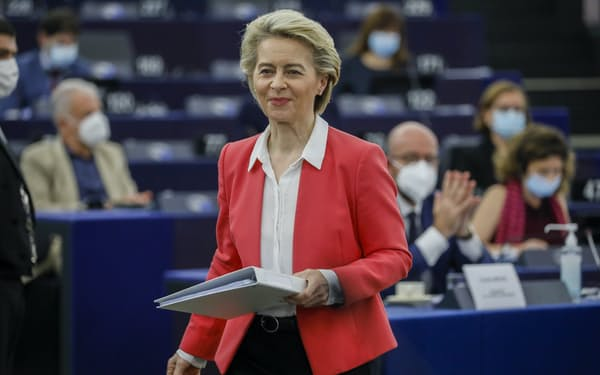 EUのフォンデアライエン欧州委員長=AP