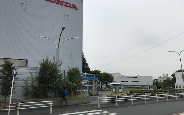 ホンダの狭山完成車工場(埼玉県狭山市)