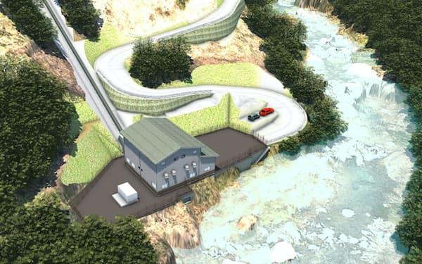 黒藤川発電所の外観イメージ