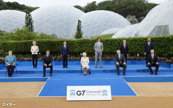 主要7カ国首脳会議(G7サミット)は中国への幅広い対抗策を打ち出した=ロイター