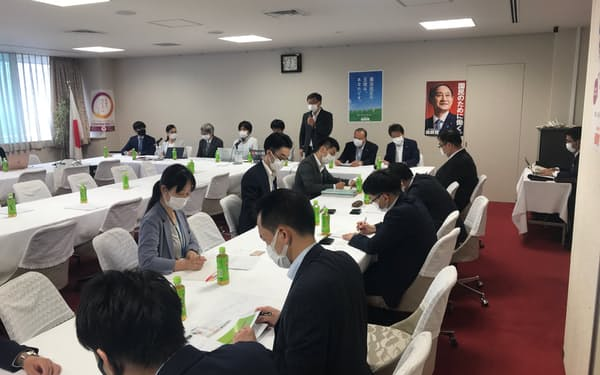 自民党の有志議員が開いた細胞農業に関する勉強会(14日、党本部)